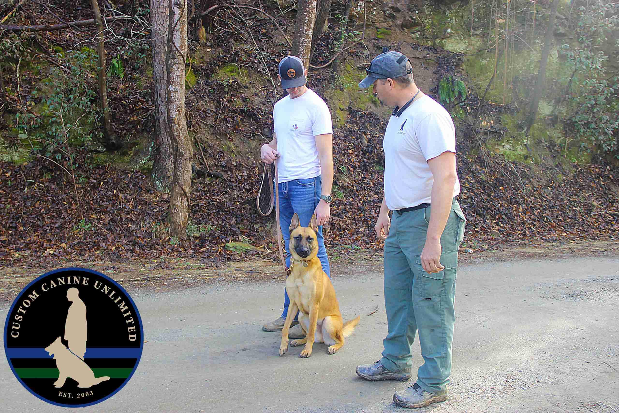 Veteran Scott with K9 Trainer Scott K9 Training a Malinois